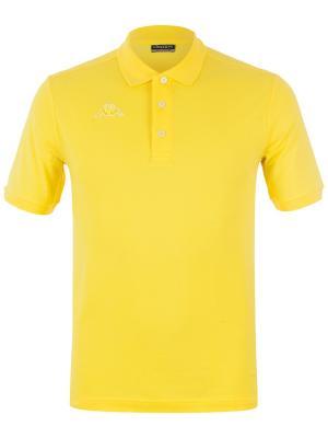 Футболка-поло KAPPA. Цвет: желтый