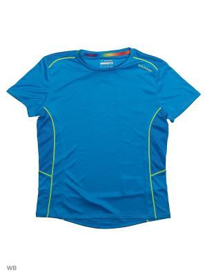 Футболка DIADORA. Цвет: голубой