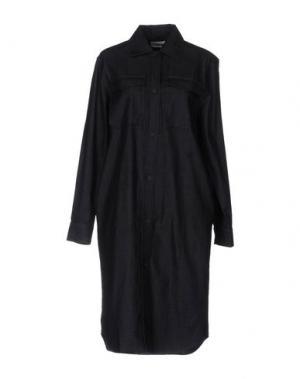 Платье до колена WOOD. Цвет: синий