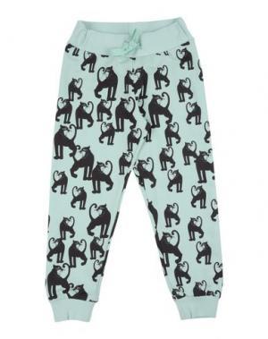 Повседневные брюки MINI RODINI. Цвет: светло-зеленый