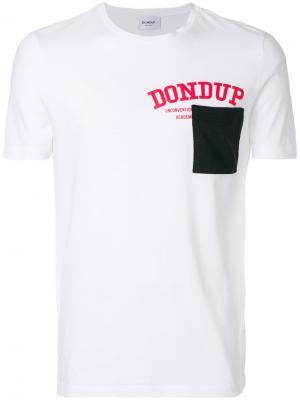 Футболка с принтом-логотипом Dondup. Цвет: белый