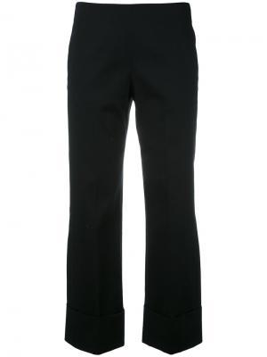 Широкие укороченные брюки Fay. Цвет: синий