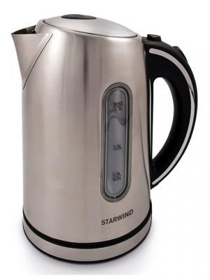Чайник Starwind SKS4210, серебристый матовый. Цвет: серый