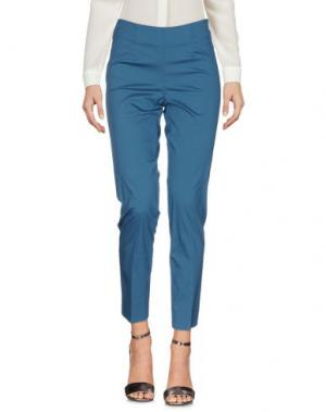 Повседневные брюки ROSSO35. Цвет: цвет морской волны