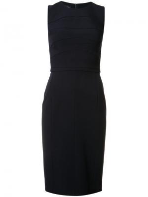 Приталенное платье со строчкой Narciso Rodriguez. Цвет: синий