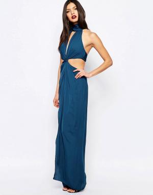 Bec & Bridge Платье макси Samira. Цвет: синий