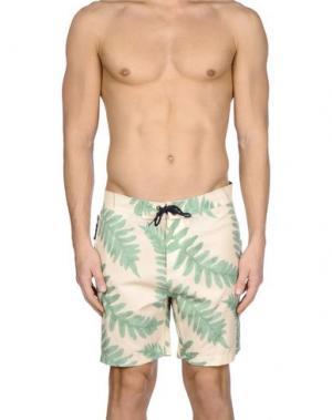 Пляжные брюки и шорты WESC. Цвет: бежевый