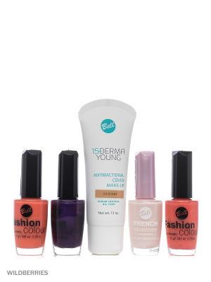 Bell Товар флюид derma young, лак для ногтей fashion colour nail, french manicure. Цвет: темно-бежевый, оранжевый, розовый, фиолетовый