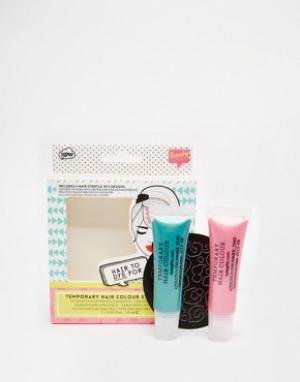 Beauty Extras Набор смываемой краски для волос с трафаретами. Цвет: бесцветный