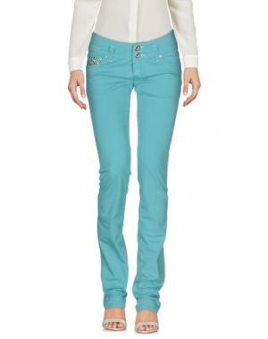 Повседневные брюки TAKE-TWO. Цвет: бирюзовый