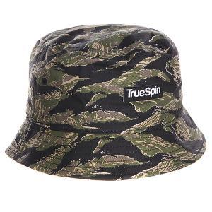 Панама  Jungle Bucket Hat Camo TrueSpin. Цвет: черный,зеленый