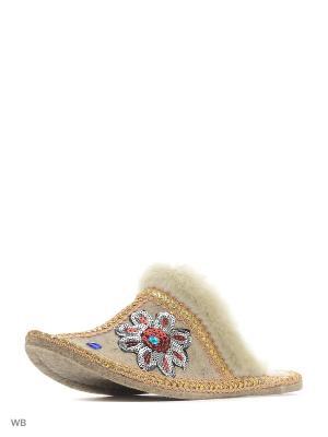 Тапочки Кукморский валяльно-войлочный комбинат. Цвет: серый, белый