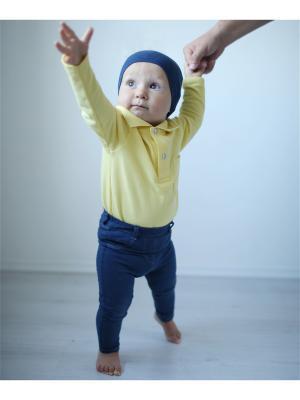 Рубашка-поло банановая TRENDYCO Kids. Цвет: светло-желтый