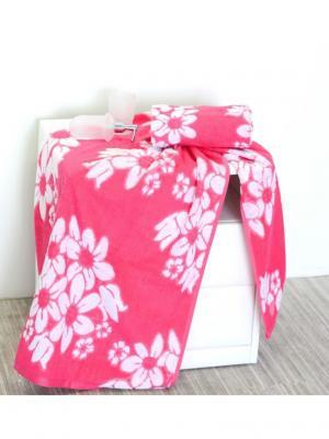 Набор махровых полотенец ФИОНЭ розовый (50*90+70*140) TOALLA. Цвет: розовый