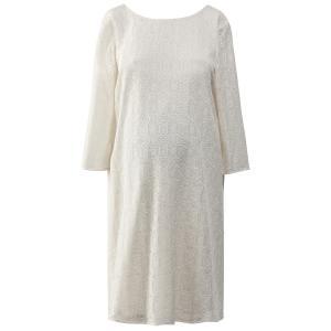 Платье из кружева для периода беременности La Redoute Collections. Цвет: слоновая кость
