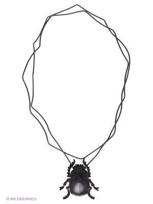 Кулон-галстук Скарабей Мастер ГРиСС. Цвет: черный