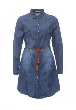 Платье джинсовое By Swan. Цвет: синий