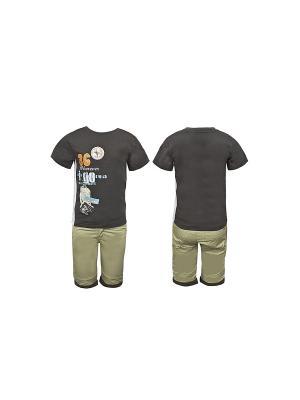 Комплект одежды WWW. Цвет: хаки
