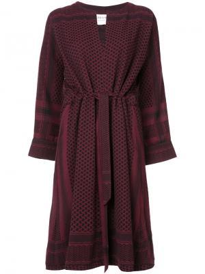 Платье-кимоно Cecilie Copenhagen. Цвет: красный