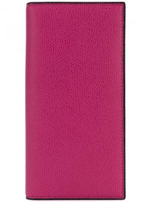 Бумажник-визитница Valextra. Цвет: розовый и фиолетовый