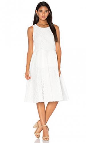 Платье миди le blanc Bronx and Banco. Цвет: ivory