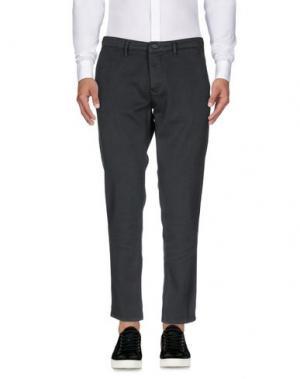 Повседневные брюки 0/ZERO CONSTRUCTION. Цвет: свинцово-серый