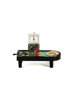Часы настольные Рулетка Русские подарки. Цвет: черный, зеленый, серебристый, золотистый