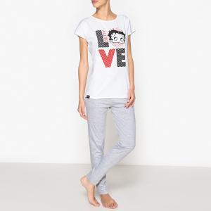 Пижама Betty Boop. Цвет: серый