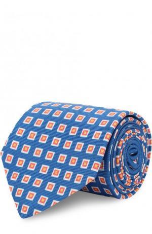 Шелковый галстук Kiton. Цвет: голубой