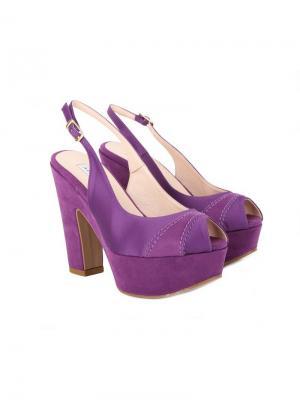 Босоножки Albano. Цвет: темно-фиолетовый