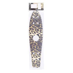 Шкурка для скейтборда лонгборда  Griptape Leopard 22(55.9 см) Penny. Цвет: бежевый,черный