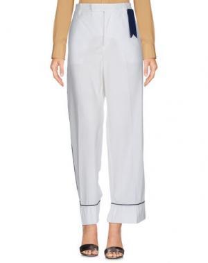 Повседневные брюки THE GIGI. Цвет: белый