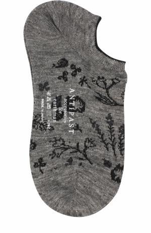Льняные носки с принтом Antipast. Цвет: черный