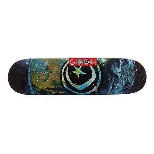 Дека для скейтборда  Star & Moon Earth 31.75 x 8.375 (21.3 см) Foundation. Цвет: мультиколор