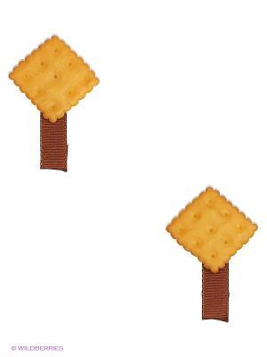Набор заколок  2шт Modis. Цвет: коричневый