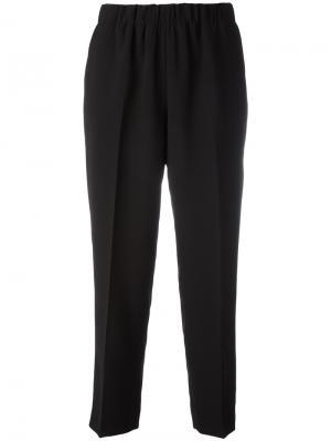 Укороченные брюки с эластичным поясом Kiltie. Цвет: чёрный