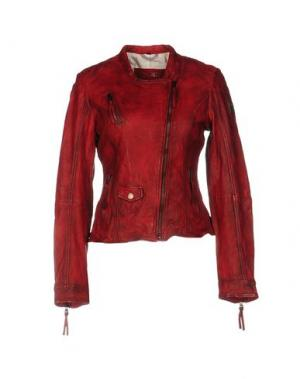 Куртка FREAKY NATION. Цвет: красно-коричневый