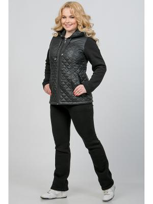 Куртка А Б Коллекция. Цвет: черный