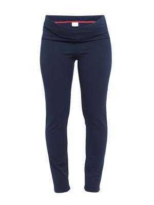 Классические брюки-скинни с регулирующим поясом Balloon-Москва. Цвет: синий