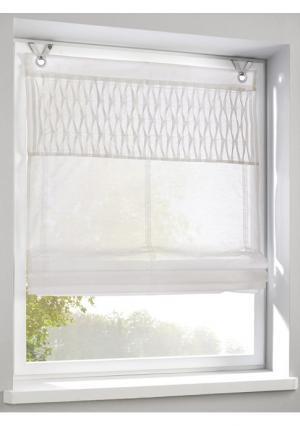 Римская штора Heine Home. Цвет: белый