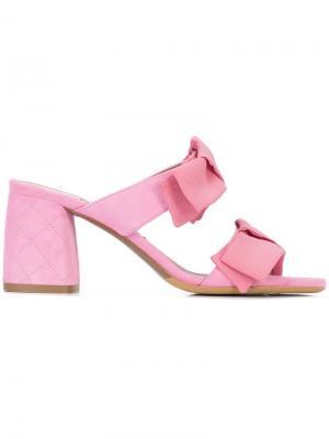 Мюли с бантами спереди Tabitha Simmons. Цвет: розовый и фиолетовый