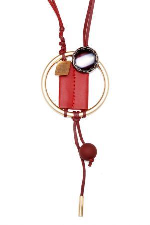 Колье Asavi Jewel. Цвет: бордовый, золотой, серебряный