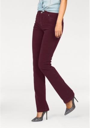 Вельветовые брюки Arizona. Цвет: вишневый, коньячный, темно-синий, черный