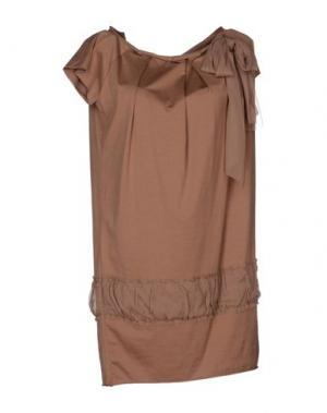 Короткое платье TUA NUA. Цвет: светло-коричневый
