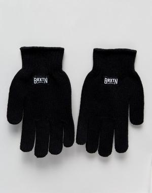 Brixton Перчатки Langley. Цвет: черный
