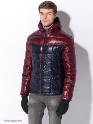 Куртка Nikolom. Цвет: темно-синий, бордовый