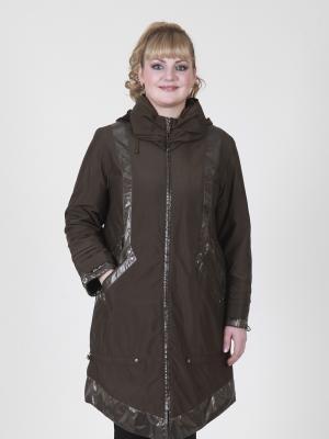 Пальто женское VIKO. Цвет: коричневый