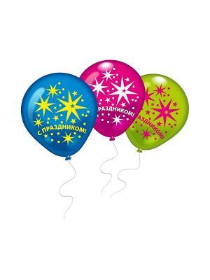 10 шариков С Праздником! Everts. Цвет: голубой