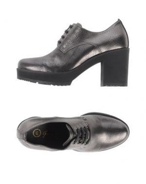 Обувь на шнурках GEORGE J. LOVE. Цвет: свинцово-серый