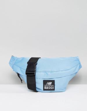 New Balance Синяя классическая сумка-пояс с логотипом. Цвет: синий